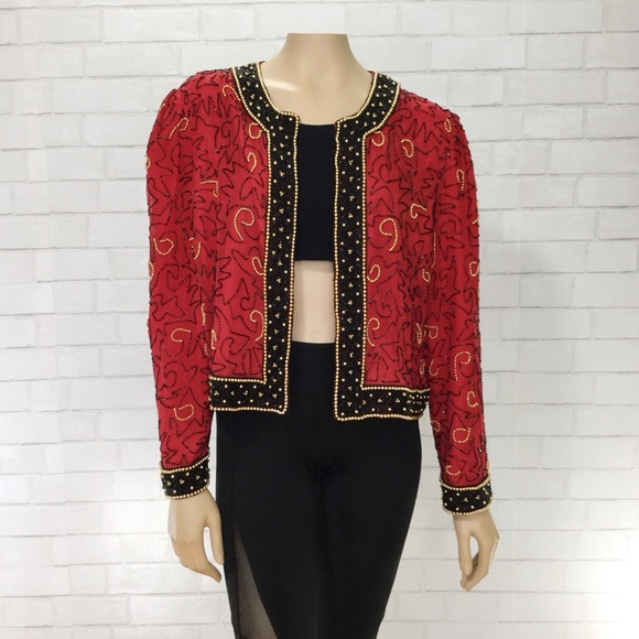 Red Beaded Jacket